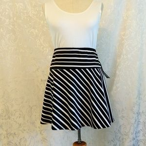Joey B Black and White Striped Skirt